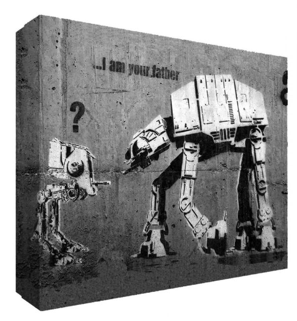 Banksy Im Father Star Wars Canvas Art - Choose